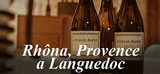 RHÔNA, PROVENCE A LANGUEDOC